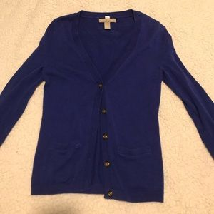 Banana republic blue cardigan